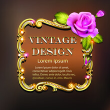 Illustration Of Golden Vintage...
