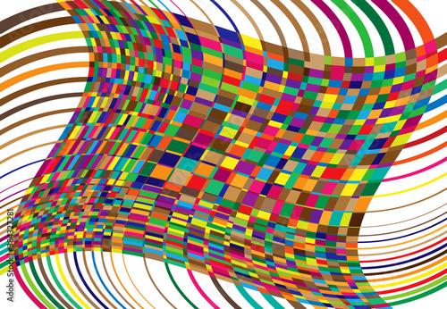 mosaic background, tessellation pattern Fototapet
