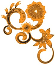 Swirl And Curl Floral Decorati...