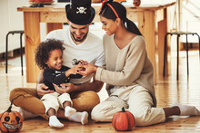 Happy Multiethnic Family Mom, ...