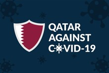 Qatar Against Covid-19 Campaign - Vector Flat Design Illustration : Suitable For World Theme, Health / Medical Theme, Humanity Theme, Infographics And Other Graphic Related Assets.