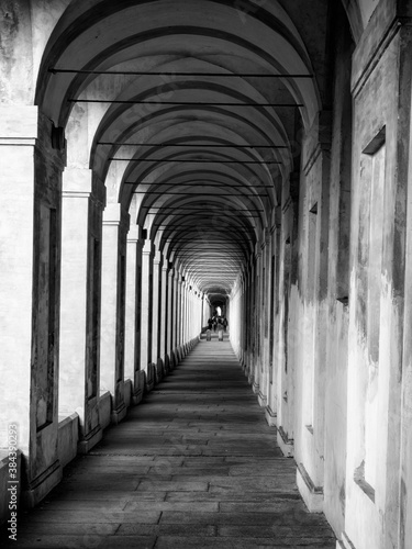 The famous portico of St. Luke in Bologna