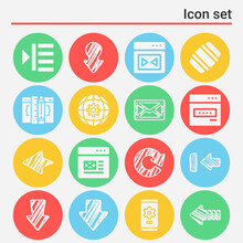 16 Pack Of Black Out  Filled Web Icons Set