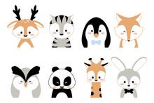 Cute Animals. Cartoon Kids Cha...