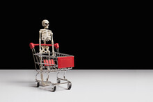 Skeleton And Shopping Cart On ...