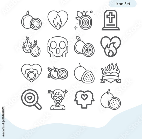Fotomural Simple set of agony related lineal icons.