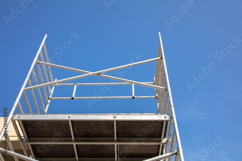 Obraz na plátně Renovation concept, scaffold tower