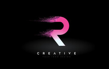 R Letter Logo With Dispersion ...