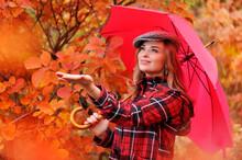 Woman Under The Umbrella Check...