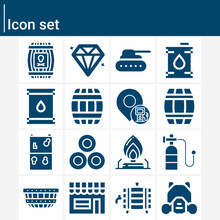 Simple Set Of Tank Related Filled Icons.