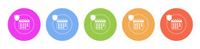 Multi Colored Flat Icons On Ro...