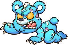 Evil Crawling Cartoon Teddy Be...