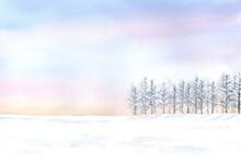 優しいイメージの冬の...