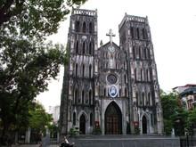 Hanoi, Vietnam, June 17, 2016: St. Joseph Cathedral Built In 1886 In Neo-Gothic Style. Hanoi, Vietnam