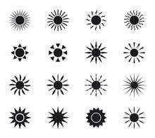 Set Of Sun Icons. Collection O...