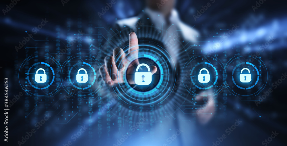 Fototapeta Cyber security data protection information privacy internet technology concept.