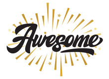Stylish Lettering Avesome On B...