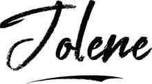 Jolene Female Name Modern Brush Calligraphy On White Background