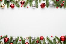 Christmas Border On White Background