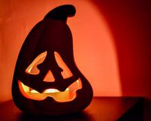 Ceramic Jack O' Lantern Candle...