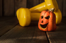 Small Ceramic Halloween Pumpki...