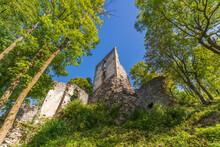 Dobra Voda Castle Ruins In The Forest, Slovakia