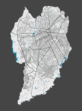 Detailed Map Of Curitiba City,...