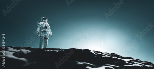 Fotografia Astronaut doing space walk and explore a distant planet such as Mars