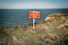 Dangerous Cliff Edge Sign