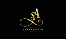 Alphabet Letters Initials Monogram Logo SA Or AS