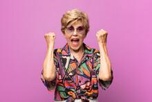 Old Pretty Woman Feeling Happy...
