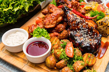 Barbecue Chicken With Vegetabl...