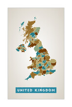 United Kingdom Map. Country Po...
