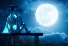Halloween Lovers Moonrise