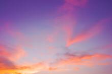 Evening Sky With Cloud Purple,...