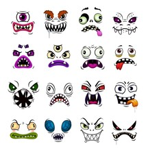 Monster Face Funny Emoticons C...
