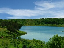 Refreshing View Of A Lake At Chickasaw National Recreation Area In Davis, Oklahoma