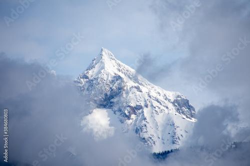 Obraz na plátně 展望台から望むタンタラス連山の眺め  シートゥスカイハイウエイ ブリティッシュコロンビア カナダ