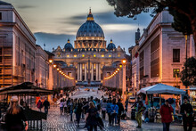 Evening View Of St. Peter's Ca...