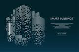 Fototapeta Miasto - Smart building concept design