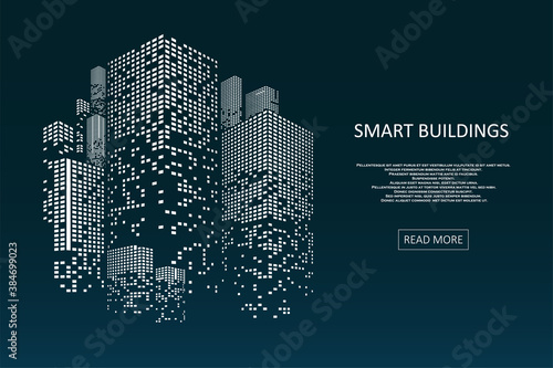 Valokuvatapetti Smart building concept design