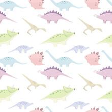 Seamless Pattern With Cute Mul...