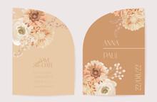 Vector Wedding Floral Invitati...