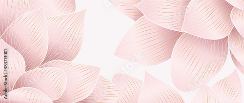 Obraz na plátně Luxurious background design with golden lotus