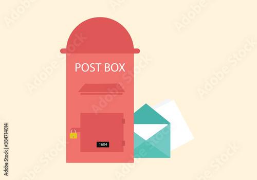 Photo postbox vector design illustration
