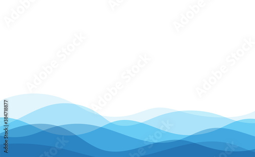 Fototapeta Blue water ocean wave layer vector background obraz