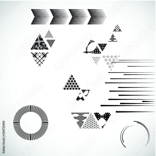 Vector Hipster Triangle Background . poster with different elements. Abstract Geometrical Poster. Modern Design Template with geometric shapes in various forms.illustration. Wall mural