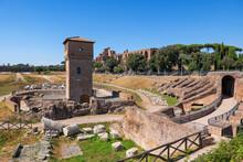 Circus Maximus Ruins In City Of Rome, Italy