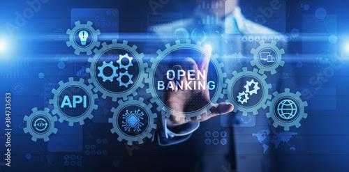 Fotografía Open banking financial technology fintech concept on virtual screen