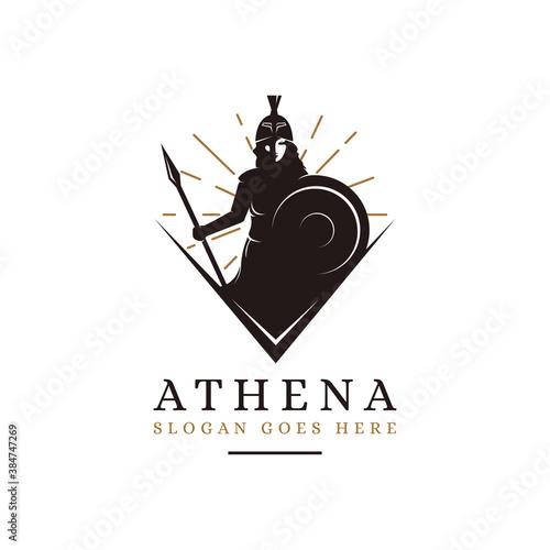 Fotografie, Tablou Athena Goddess logo vector illustration